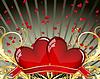 Vector clipart: valentine frame