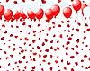 Vector clipart: balloons on hearts