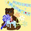 Vector clipart: Birthday card