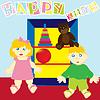 Vector clipart: happy kids