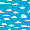 Vector clipart: seamless cloud background