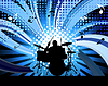 Vector clipart: rock group drummer