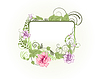 Vector clipart: floral frame