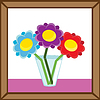 Vector clipart: vase and flowers