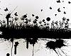 Векторный клипарт: гранж травы