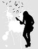 Векторный клипарт: рок-гитариста