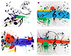 Vector clipart: grunge musical notes set