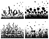 Set of grass silhouettes | Stock Vector Graphics