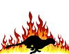 Векторный клипарт: пламя пума