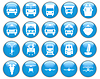 Vector clipart: transportation icon set