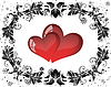 Vector clipart: St. Valentine`s day card