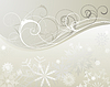 Vector clipart: winter frame background