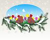 Векторный клипарт: Зимой окна с лета