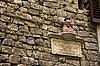 성당 두오모 근처 건물 벽에 조각 Domum. FLORENC | Stock Foto