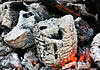 Embers remained after fire. Russia. Samara.   Stock Foto