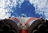 Russian space transport rocket | Stock Foto