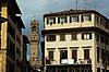 Kind of area Santa Croce on Tower Palazzo Vecchio | Stock Foto