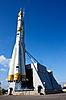 러시아어 공간 전송 로켓 | Stock Foto