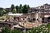 Ruins of Pompey after Vesuvius eruption | Stock Foto
