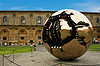 Photo 300 DPI: sphere inside sphere in Vatican courtyard