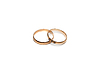Couple golden wedding ring, one with diamond | Stock Foto