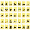 Vector clipart: transportation icon set