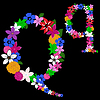 Vector clipart: floral letter