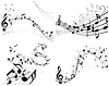 Vector clipart: music notes