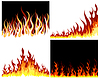 Vector clipart: fire background set