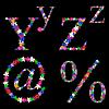 Vector clipart: floral alphabet