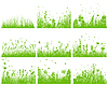 Vector clipart: meadow silhouette set