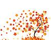 Векторный клипарт: Осенний фон с кленовыми листьями