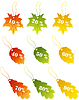 Vector clipart: maples leaves sale label