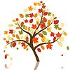Векторный клипарт: Осенние клены