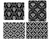 Vector clipart: Damask seamless patterns