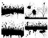 Векторный клипарт: гранж фон набор
