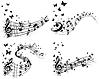 Векторный клипарт: Набор музыкальный фон