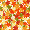 Vector clipart: maples leaves seamless