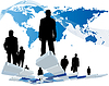 Vector clipart: Worldwide business theme