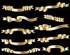 Vector clipart: Set of golden ribbon