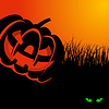Vector clipart: Happy halloween card