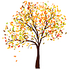 Autumn birch | Stock Vector Graphics
