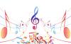 Vector clipart: Multicolour musical