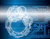 Technologische blauem Hintergrund | Stock Vektrografik