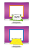 Vector clipart: monitors with money and envelope