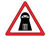 Vector clipart: warning shahid sign