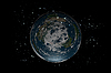 Photo 300 DPI: Flat Earth planet inside stars