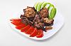 Fried meat   Stock Foto