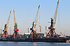 Cranes in seaport | Stock Foto