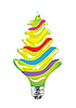Vector clipart: Christmas tree as light bulb